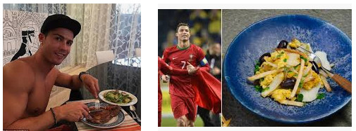 menu makanan pemainan sepakbola